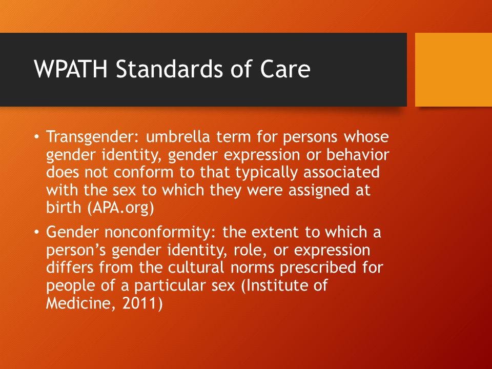 WPATH Standards of Care