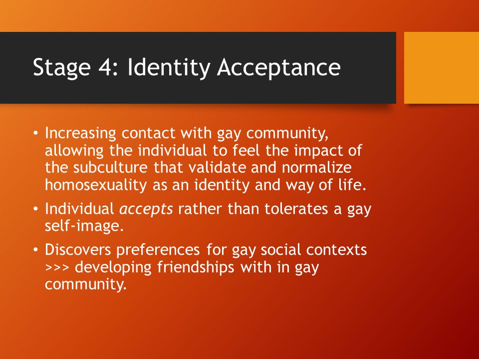 Stage 4: Identity Acceptance