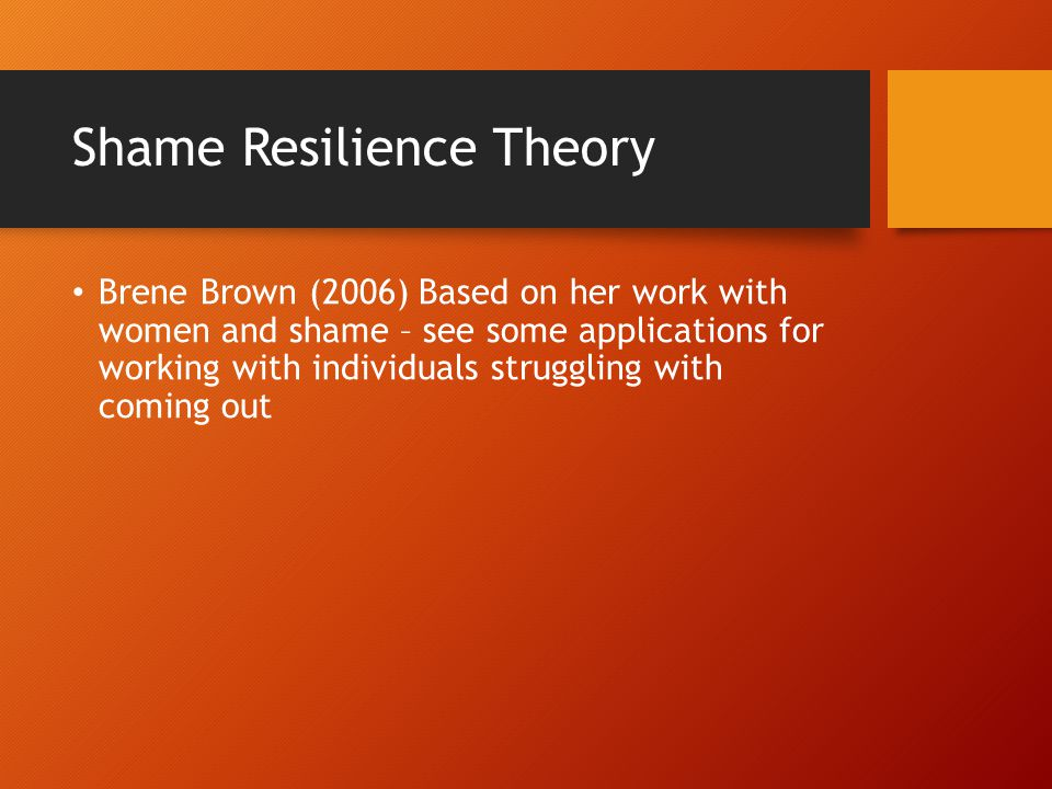 Shame Resilience Theory