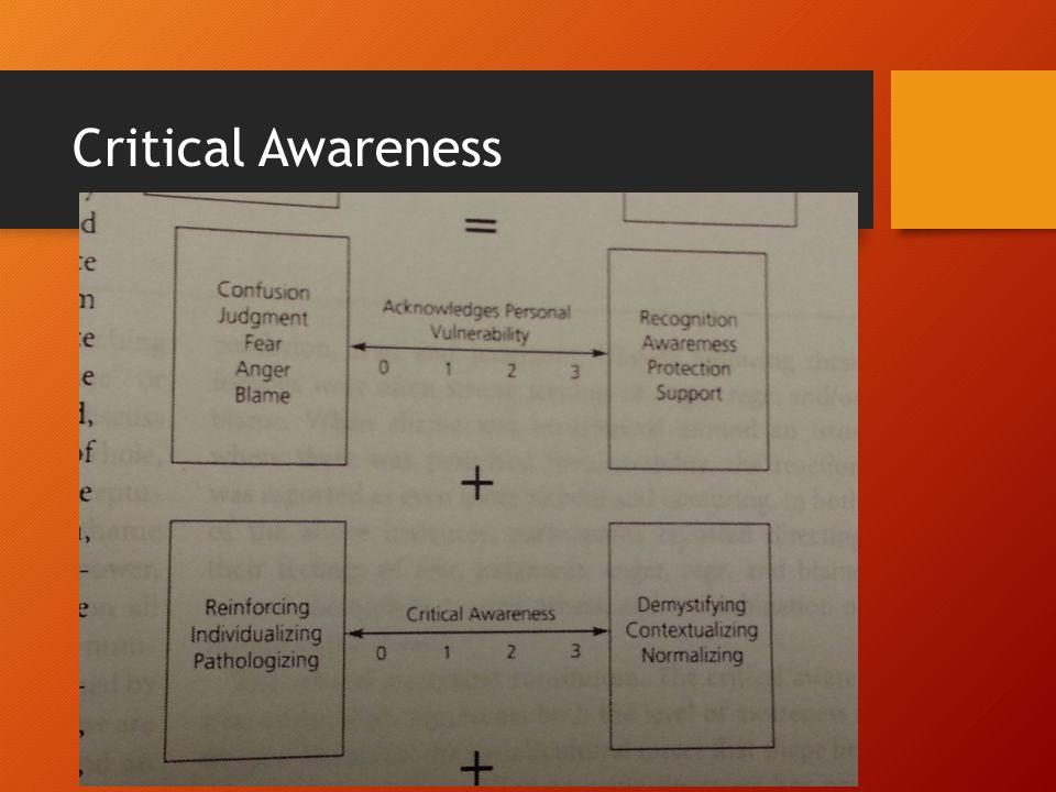 Critical Awareness