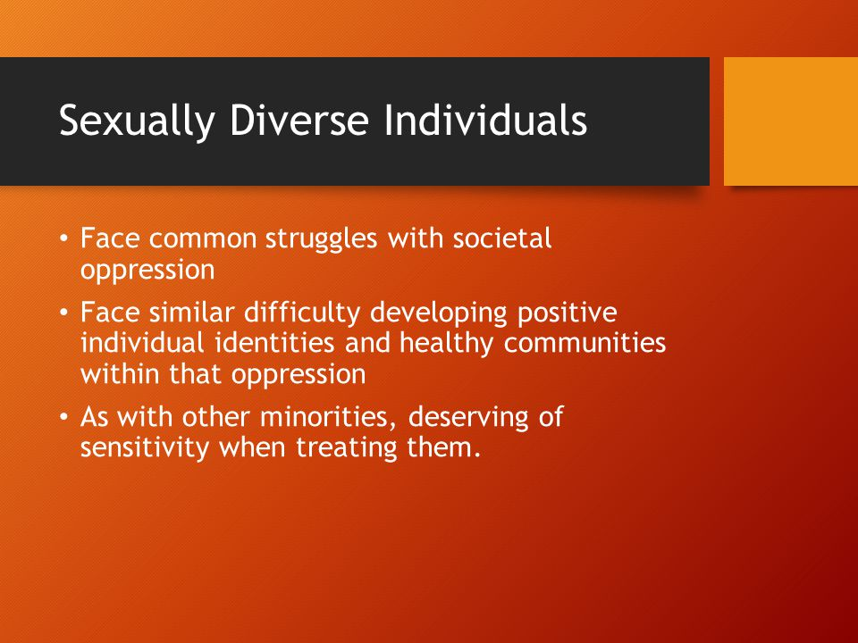 Sexually Diverse Individuals