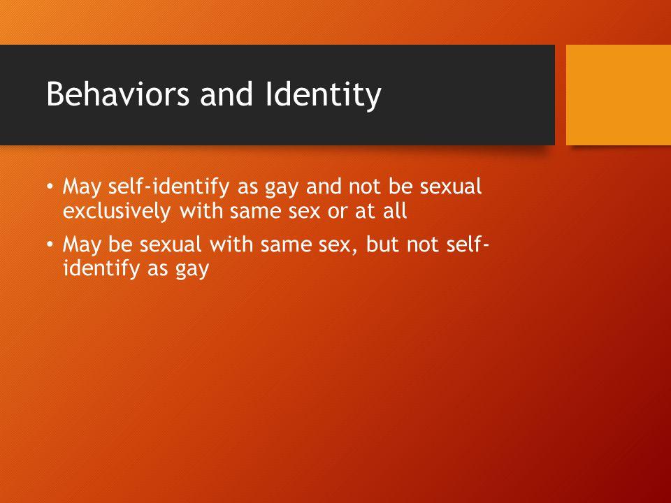 Behaviors and Identity