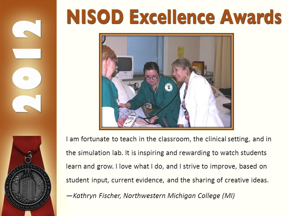 I am fortunate to teach in the classroom, the clinical setting, and in the simulation lab.