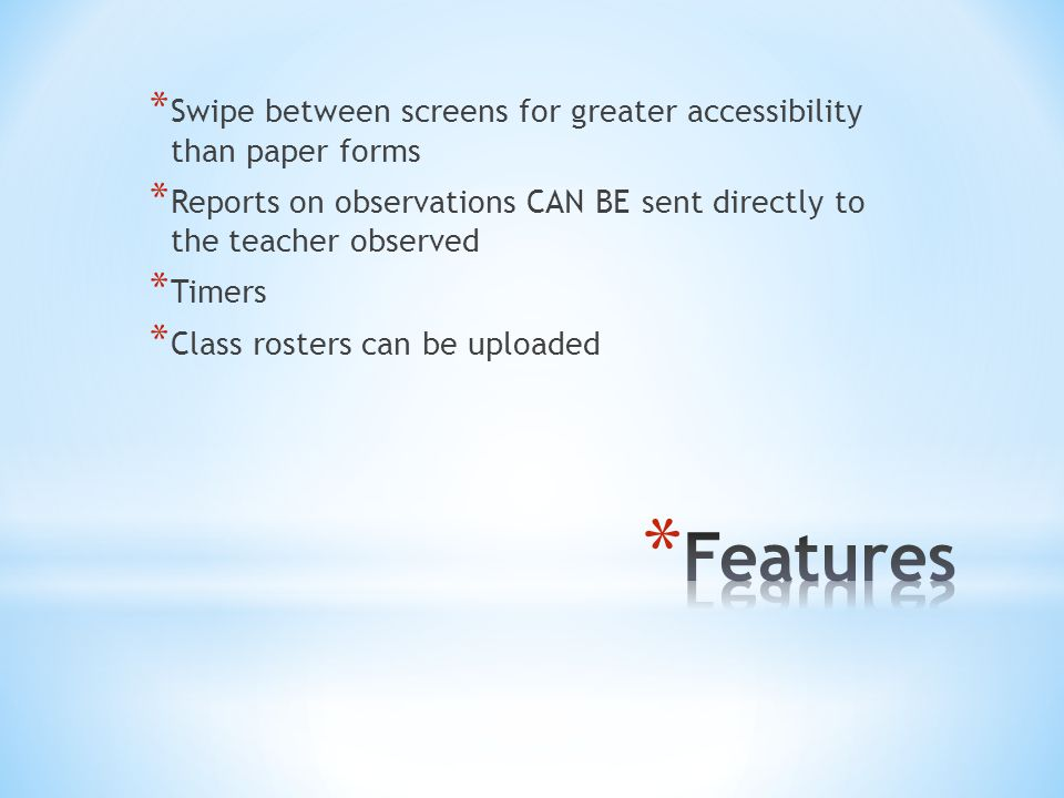 Swipe between screens for greater accessibility than paper forms