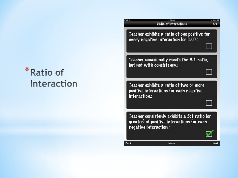 Ratio of Interaction