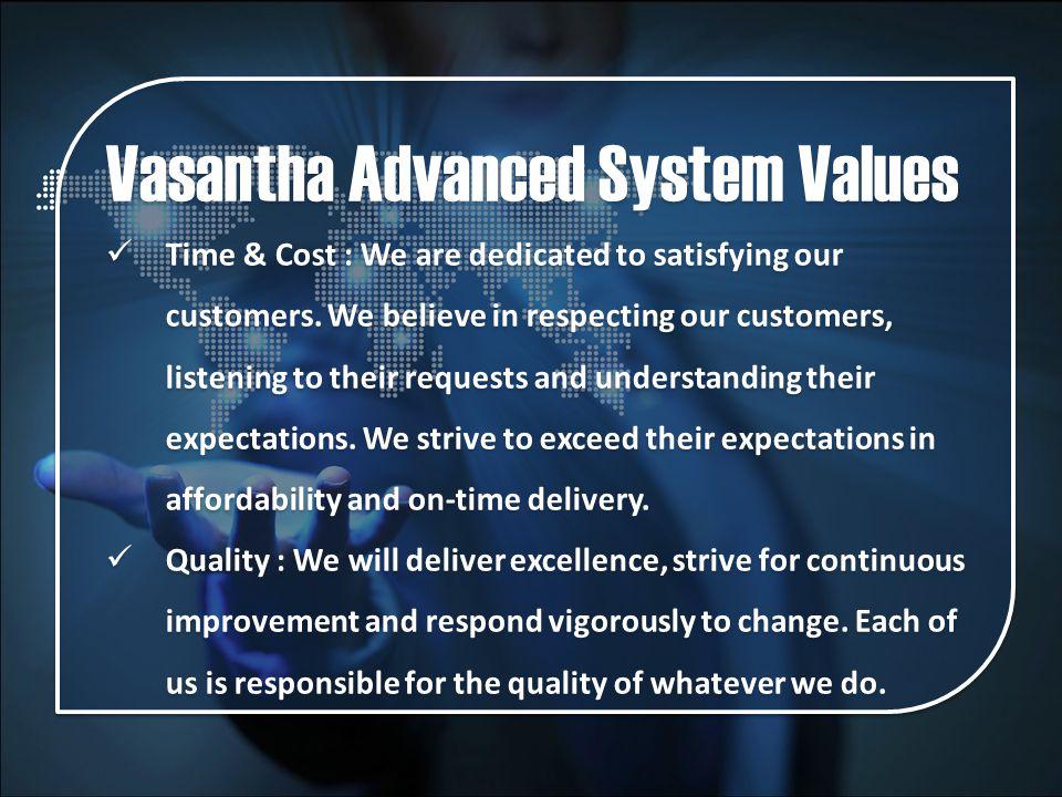 Vasantha Advanced System Values