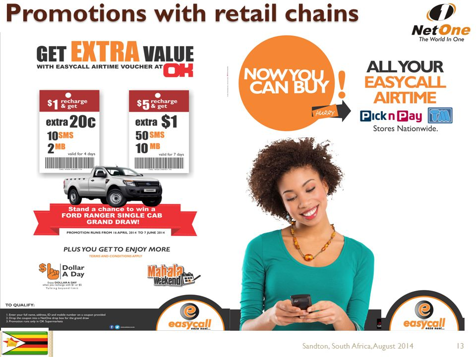 Promotions with retail chains