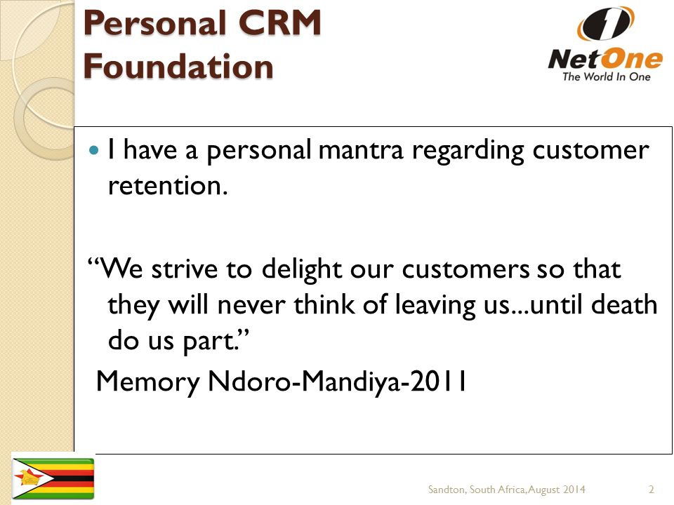 Personal CRM Foundation
