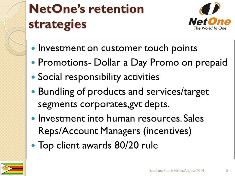 NetOne's retention strategies