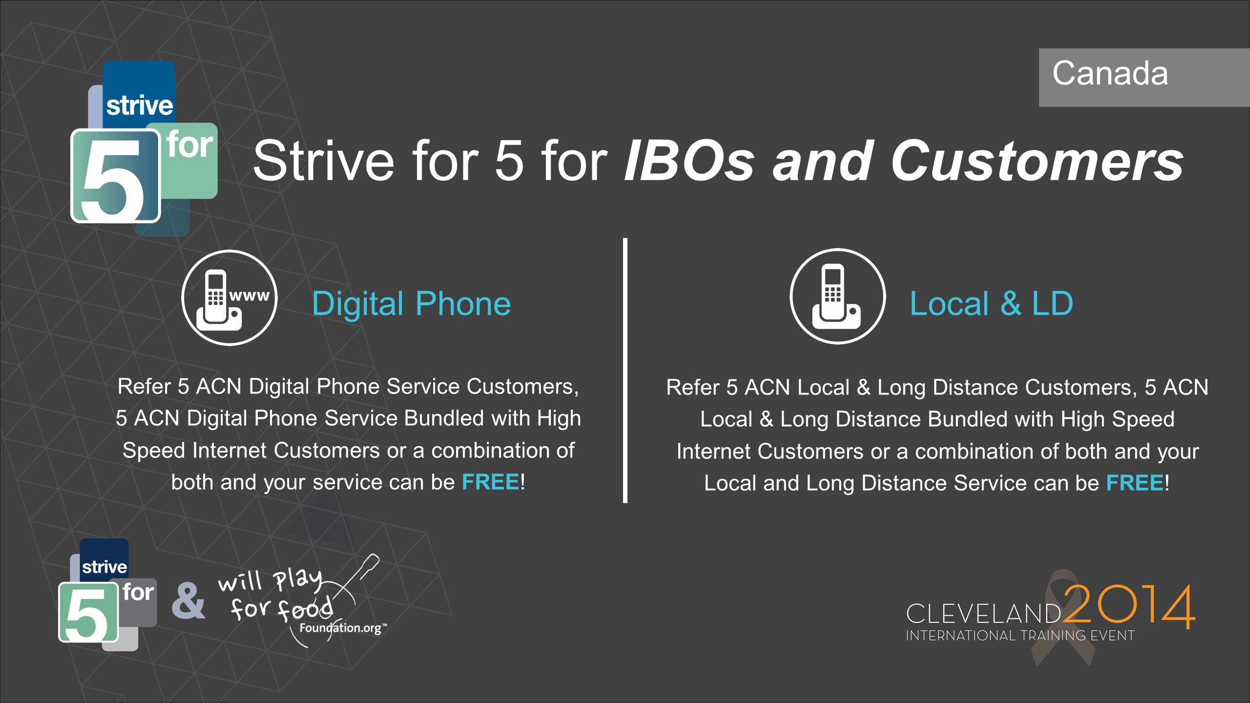 Strive for 5 for IBOs and Customers