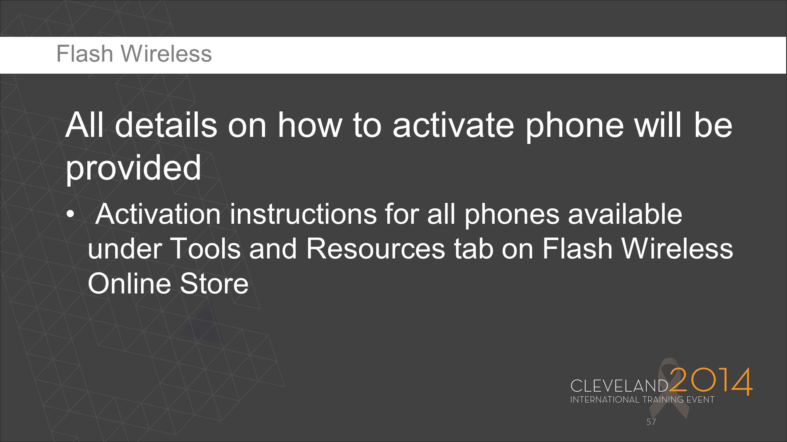 All details on how to activate phone will be provided