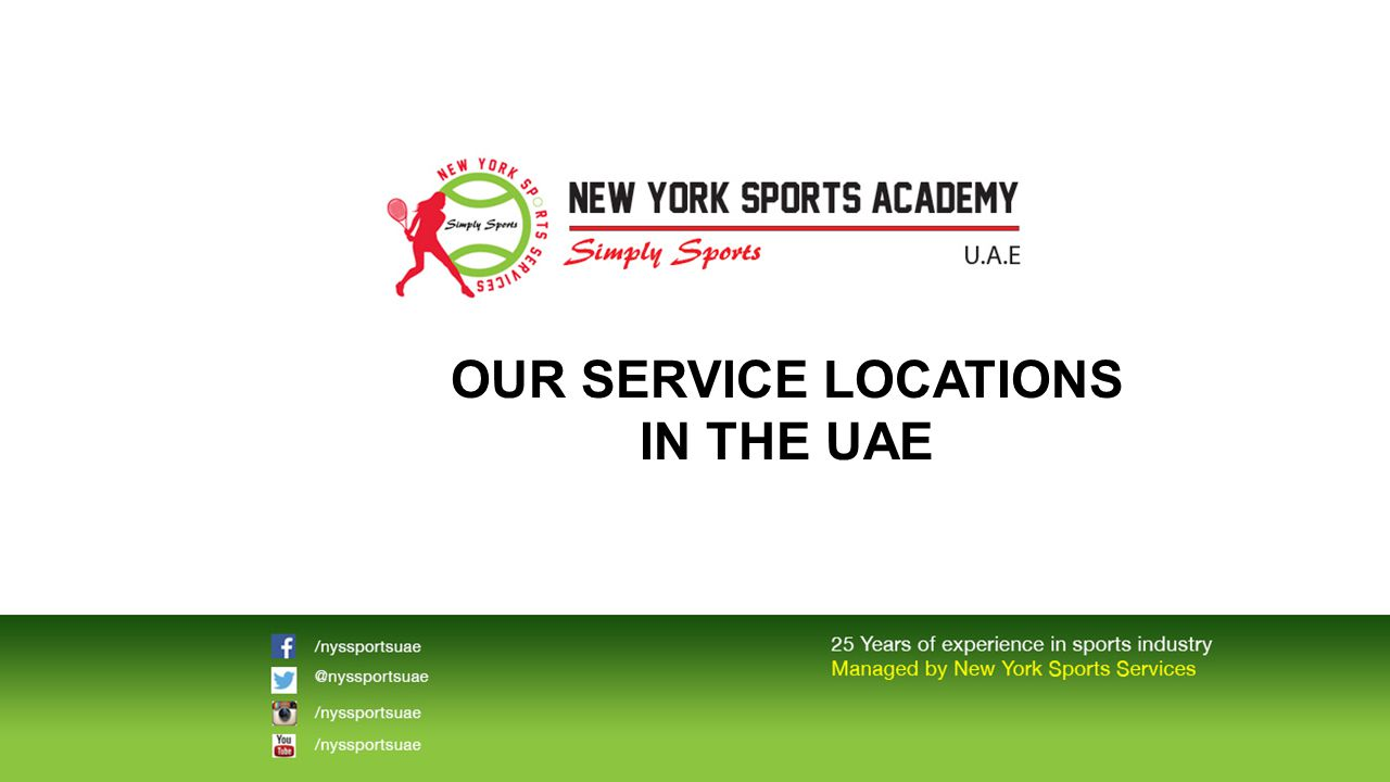 OUR SERVICE LOCATIONS IN THE UAE