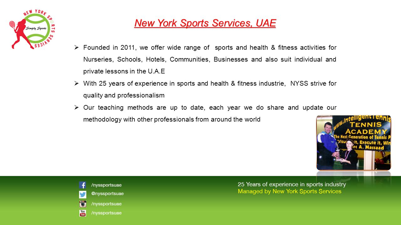 New York Sports Services, UAE
