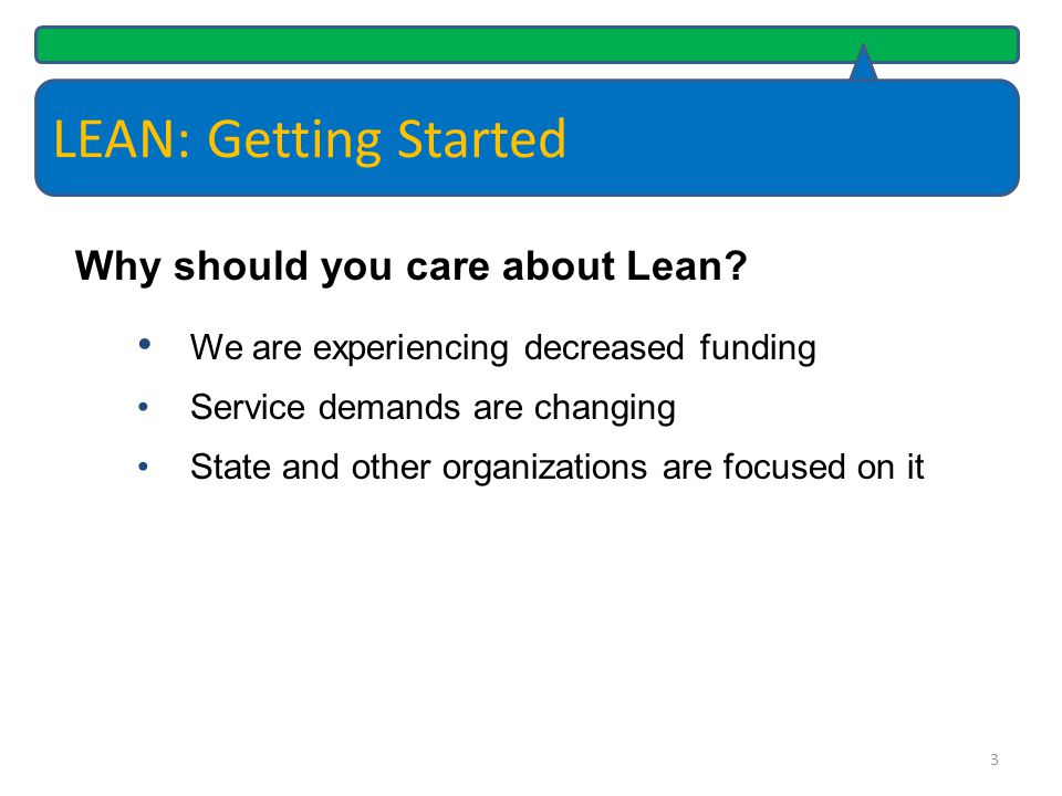 LEAN: Getting Started Why should you care about Lean