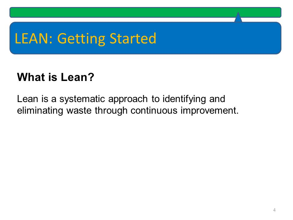 LEAN: Getting Started What is Lean