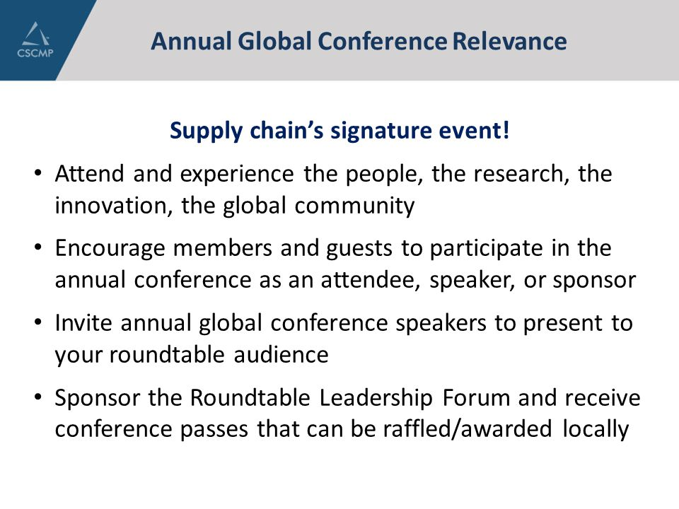 Annual Global Conference Relevance