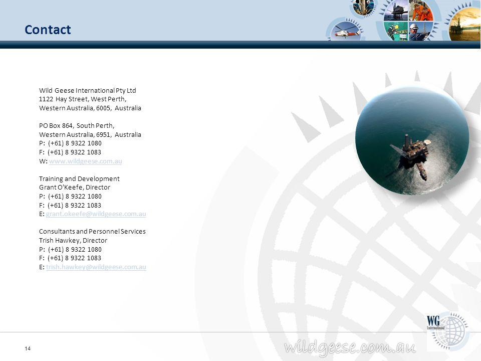Contact Wild Geese International Pty Ltd 1122 Hay Street, West Perth,