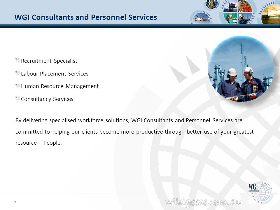 WGI Consultants and Personnel Services