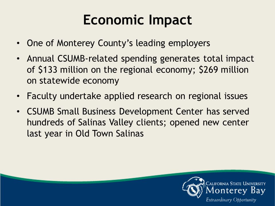 Economic Impact One of Monterey County's leading employers