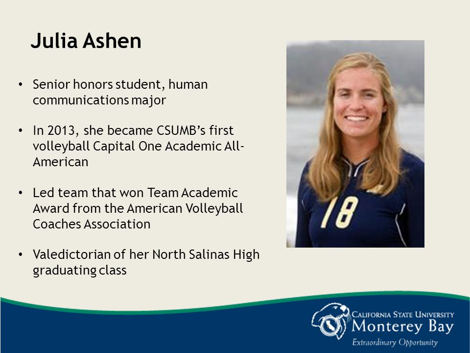 Julia Ashen Senior honors student, human communications major