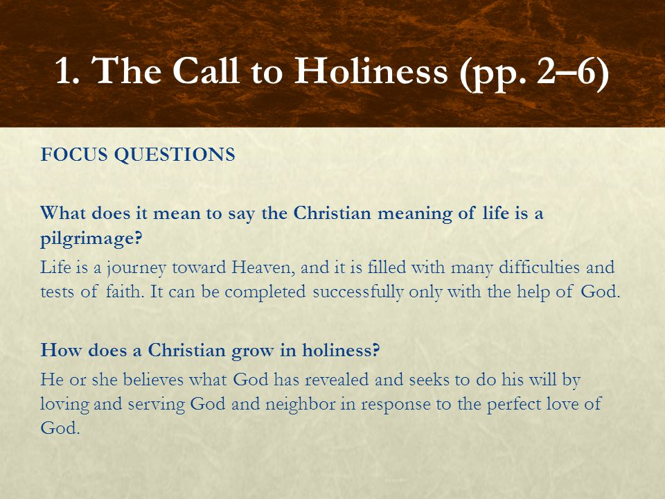 1. The Call to Holiness (pp. 2–6)