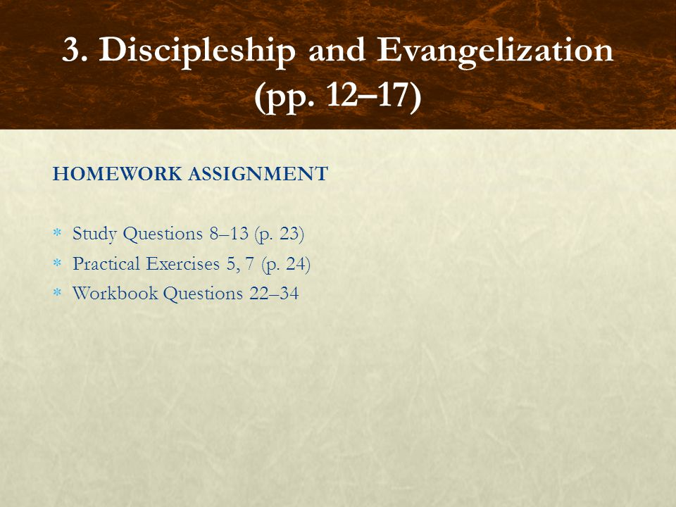 3. Discipleship and Evangelization (pp. 12–17)