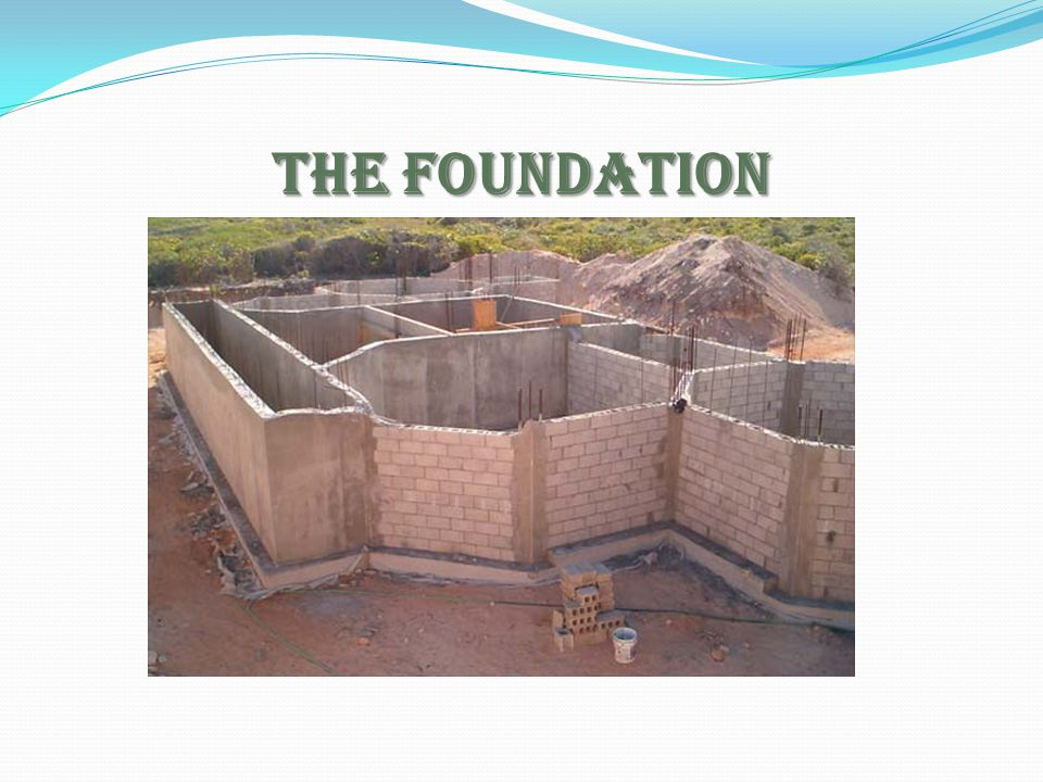 The Foundation Ask for a participant to paraphrase the def of Foundation.