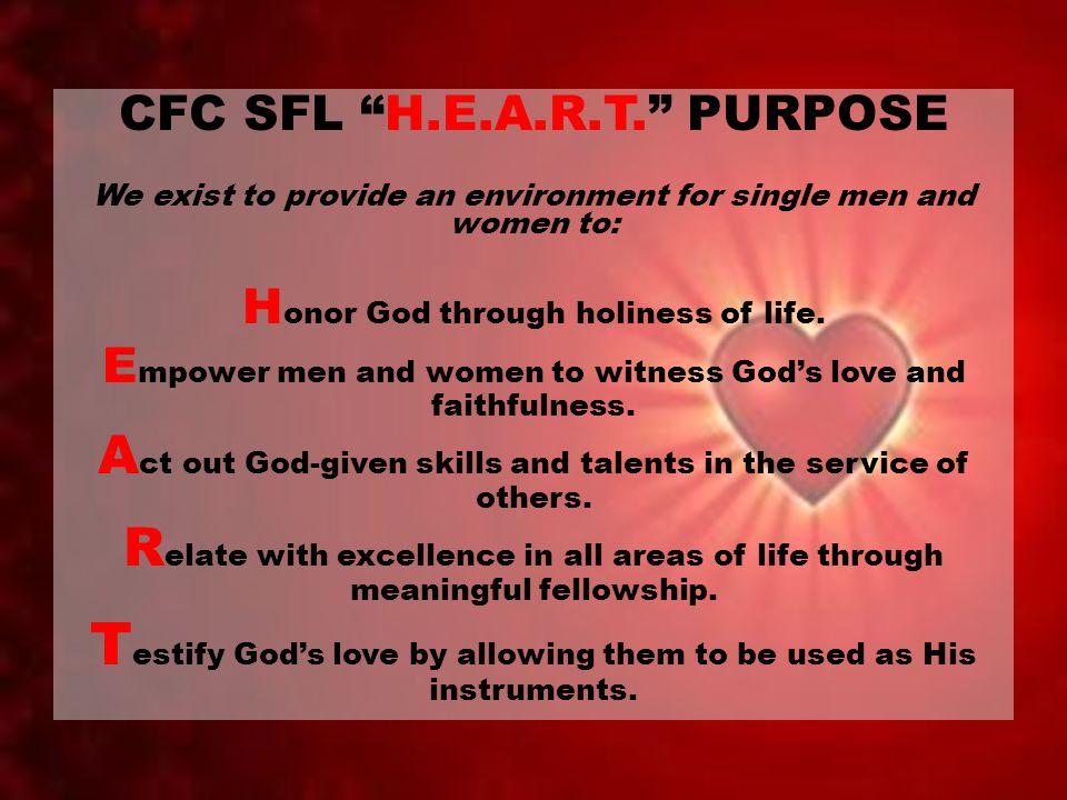 CFC SFL H.E.A.R.T. PURPOSE