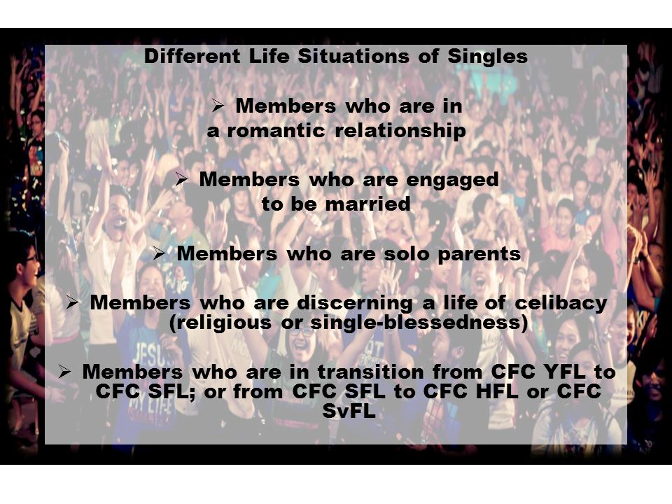 Different Life Situations of Singles Members who are in
