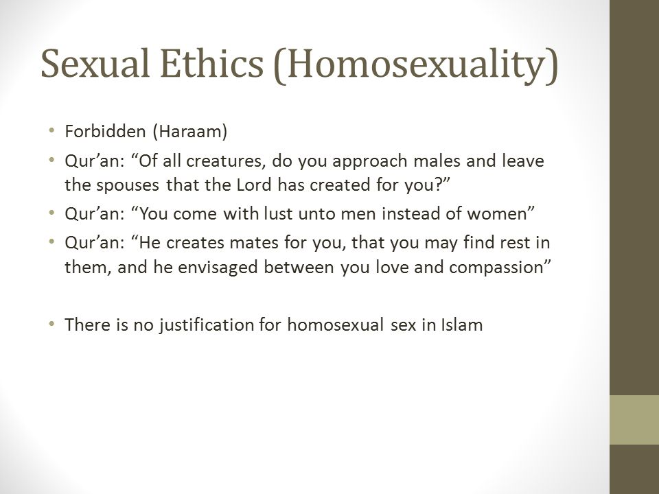 Sexual Ethics (Homosexuality)