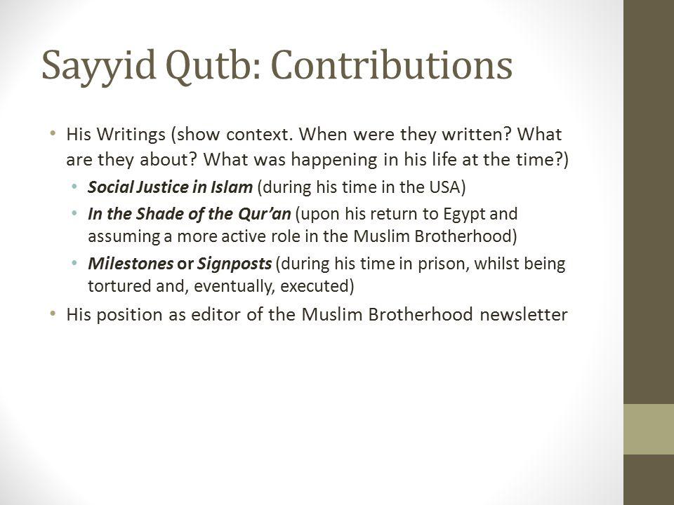 Sayyid Qutb: Contributions