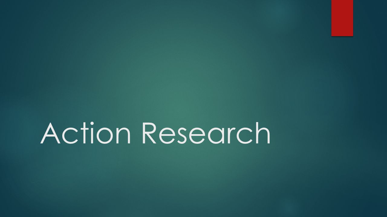 action research in science