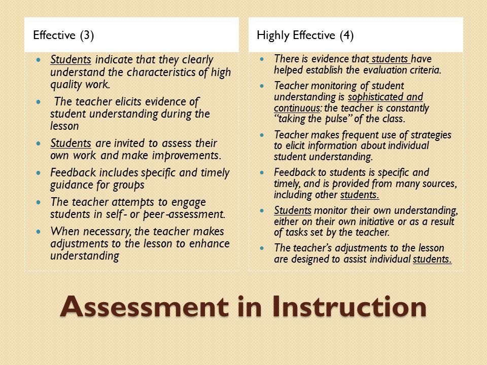 Assessment in Instruction