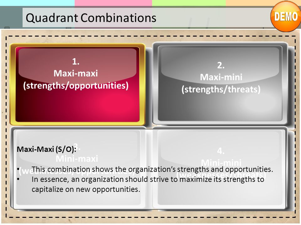 Quadrant Combinations