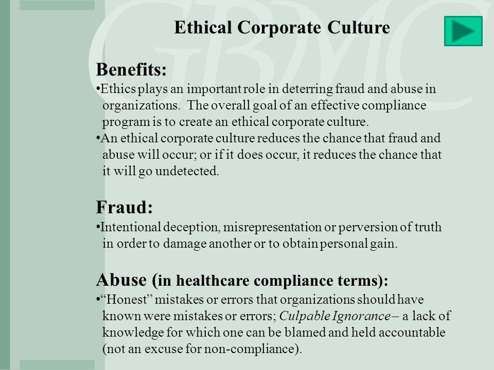 Ethical Corporate Culture