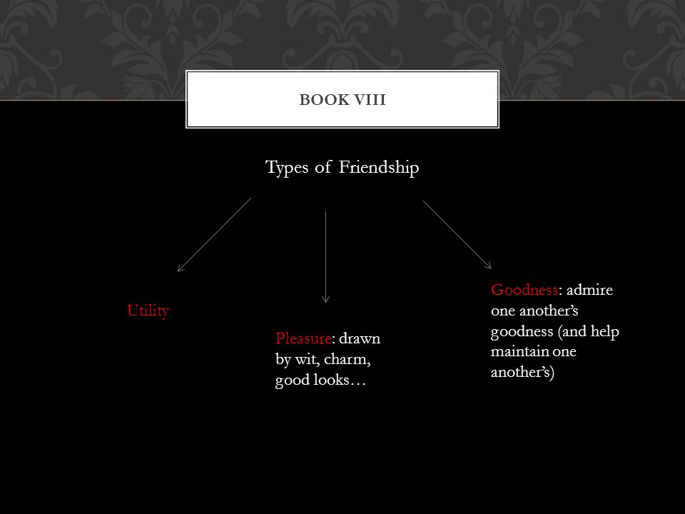 Types of Friendship Book viii