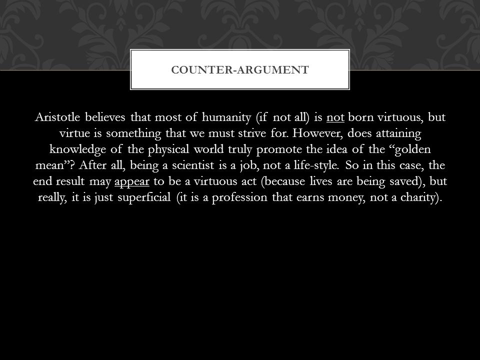 Counter-argument