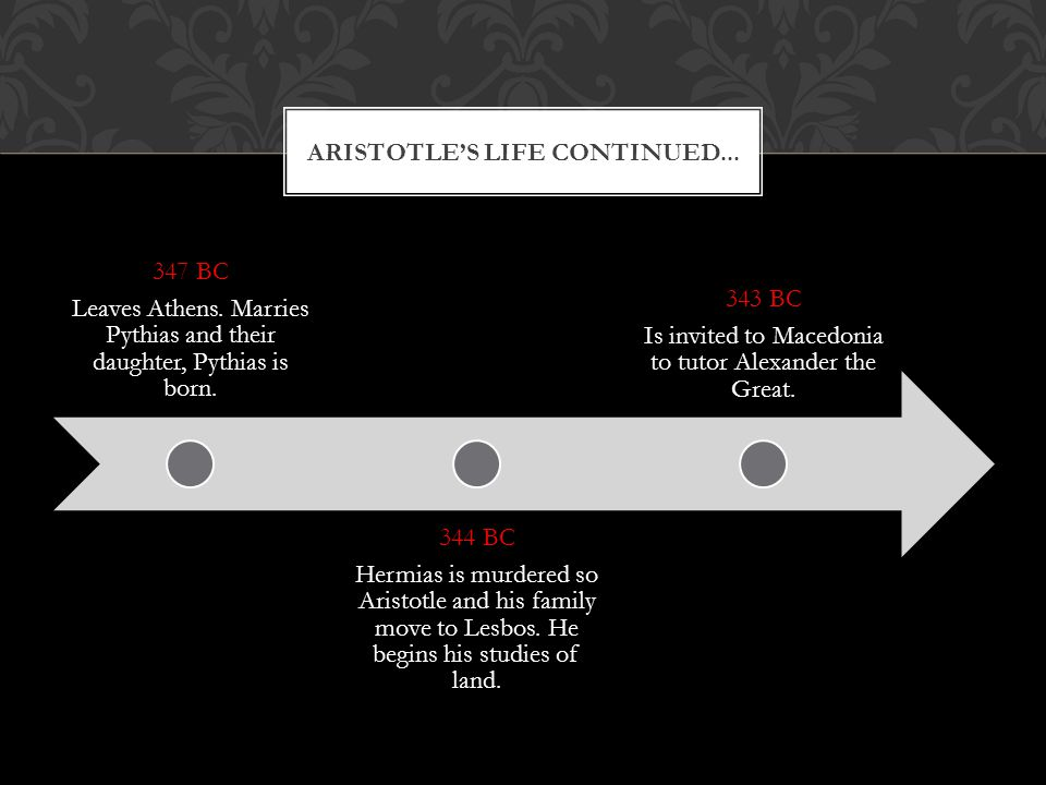 Aristotle's life continued...