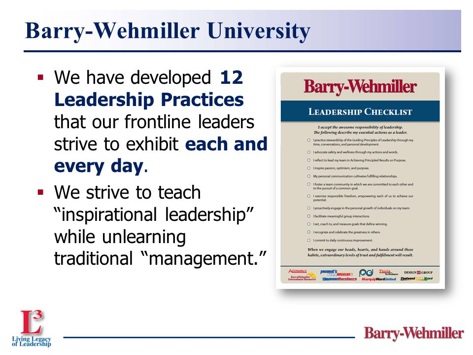Barry-Wehmiller University