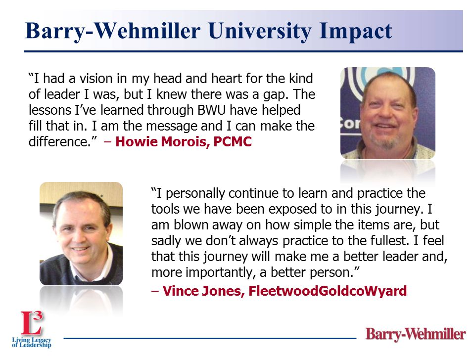 Barry-Wehmiller University Impact