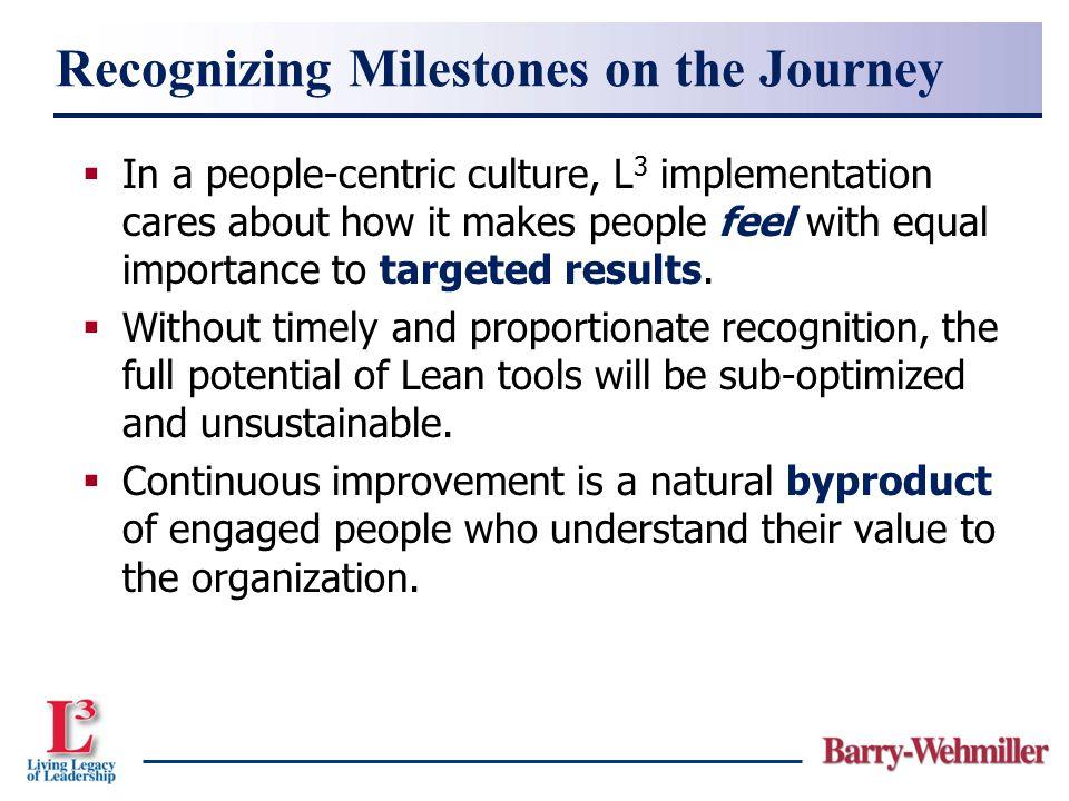 Recognizing Milestones on the Journey