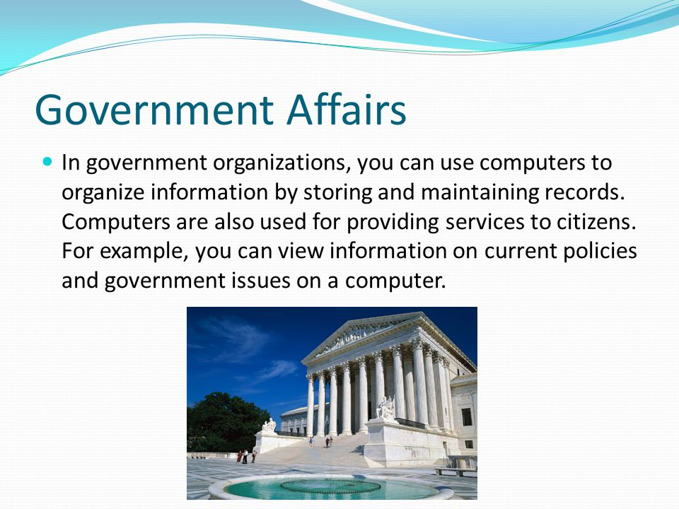 Government Affairs