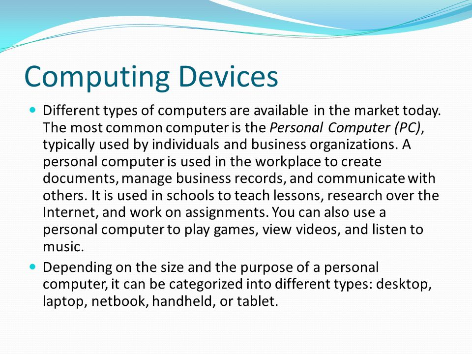Computing Devices