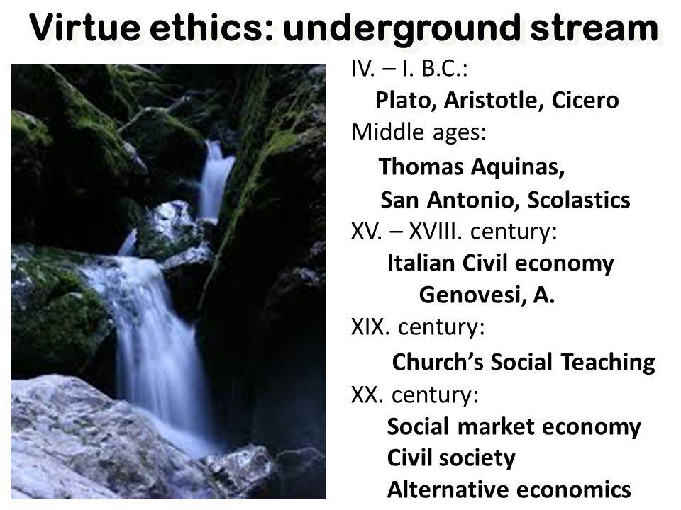 Virtue ethics: underground stream