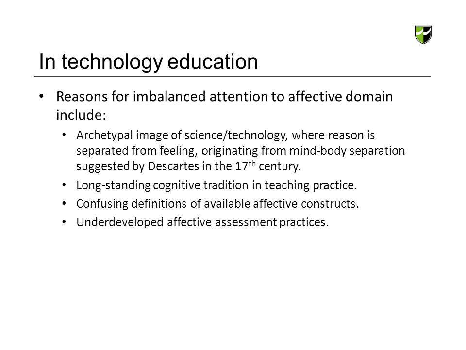 In technology education