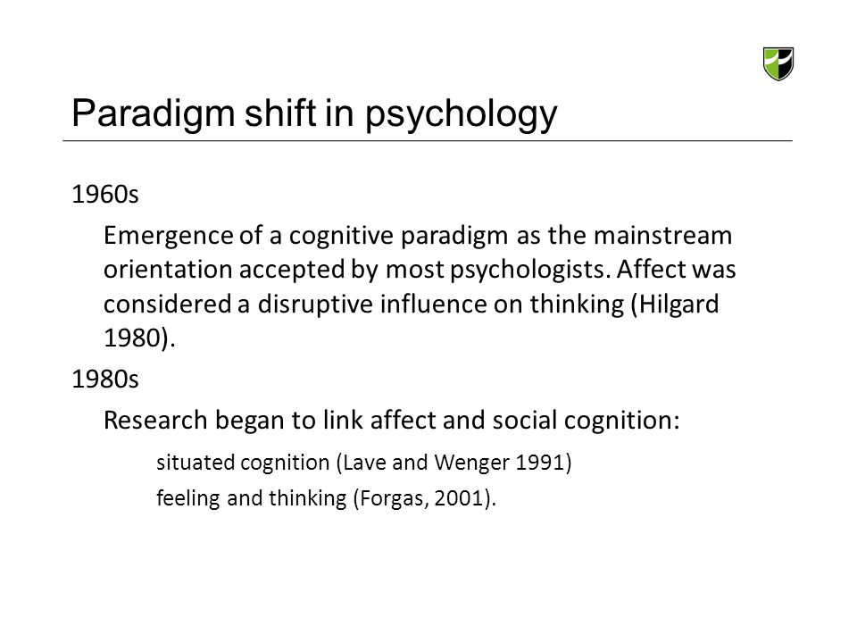 Paradigm shift in psychology