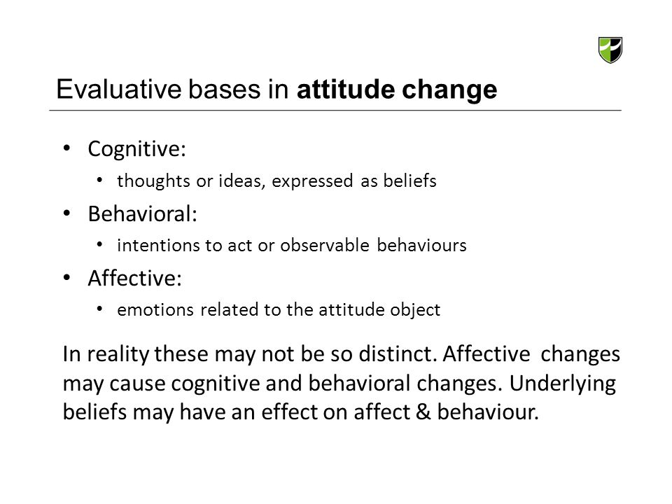 Evaluative bases in attitude change