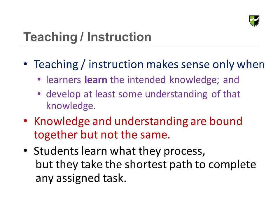 Teaching / Instruction