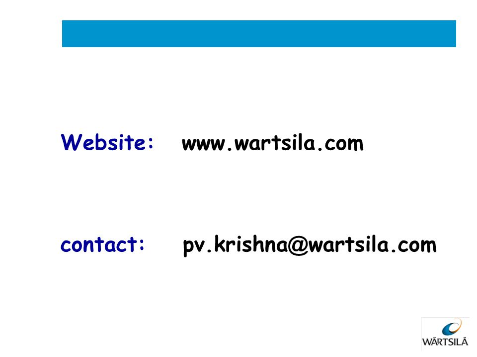 Website: www.wartsila.com