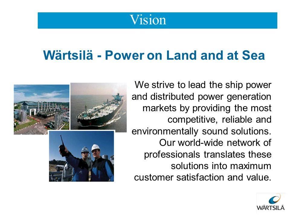 Vision Wärtsilä - Power on Land and at Sea